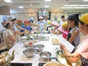 ①調理の仕方指導