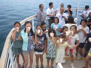 150808 メグミ船⑬深層水を飲む③