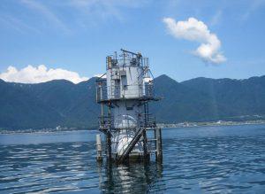 ⑪琵琶湖の水質をしっかり24時間監視・測定・県庁へ無線で知らす